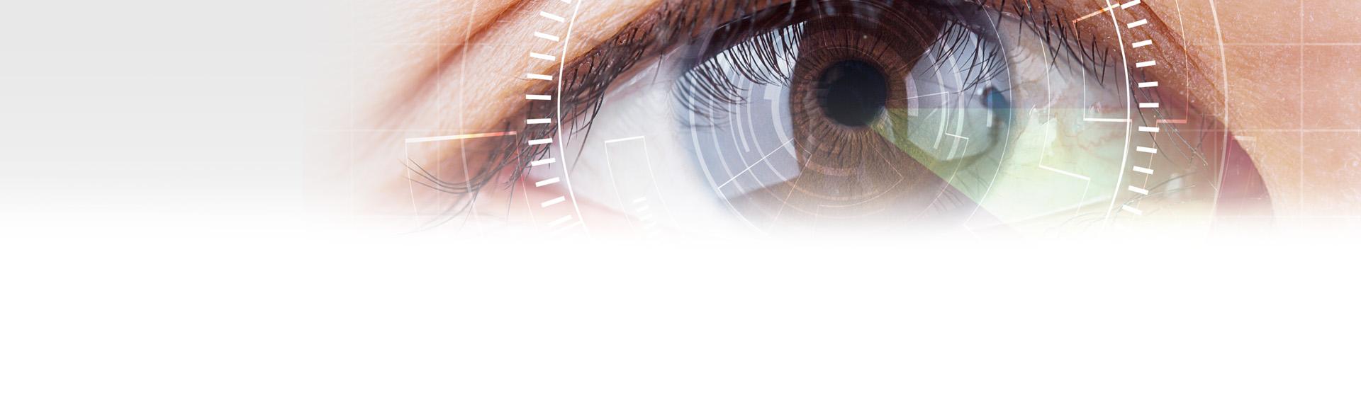 Szara tęczówka ludzkiego oka